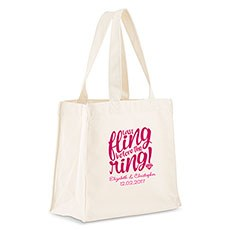 Last Fling Before The Ring! Personalized Tote Bag