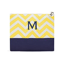 Chevron Cosmetic Bag - Gold