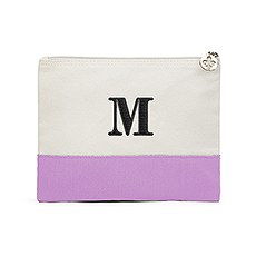 Colorblock Large Zip Pouch - Lilac / Lavender