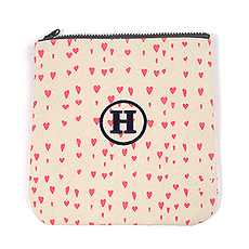 Pink Hearts Carry-all Zipper Bag