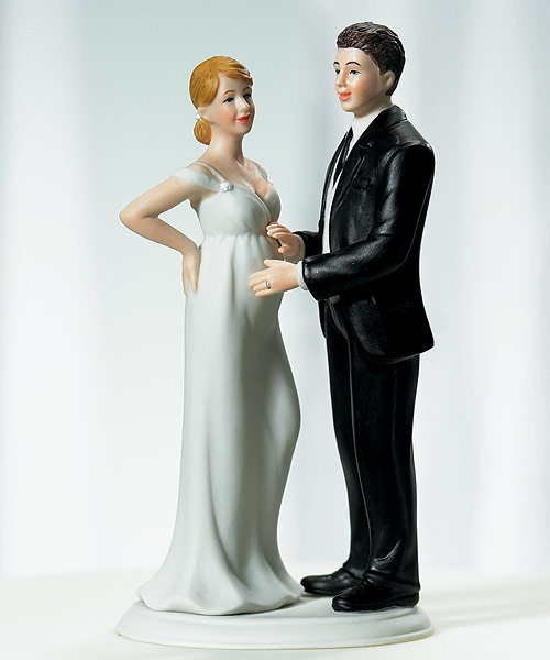 expecting couple bride and groom cake topper this beautifully detailed