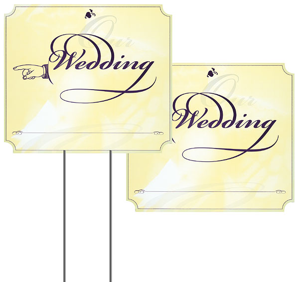 Details about Wedding Supplies Supply Reception Ceremony Directional ...