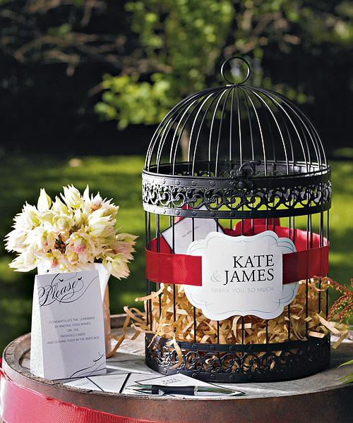 Black Birdcage Bird Spring Wedding Decoration Wishing Well Card Holder ...