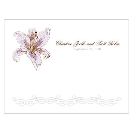 Lily Wedding Note Card