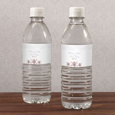 Lily Water Bottle Labels