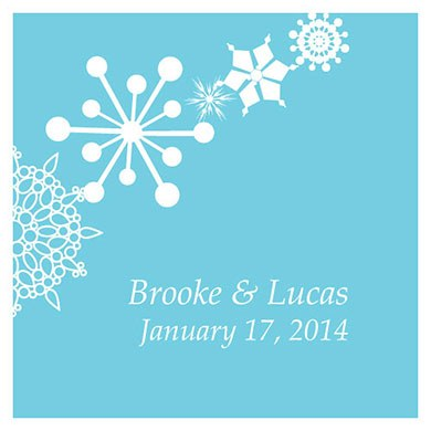 Winter Finery Square Wedding Favor Tag
