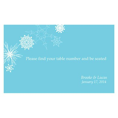 Winter Finery Wedding Reception Escort Table Sign Card