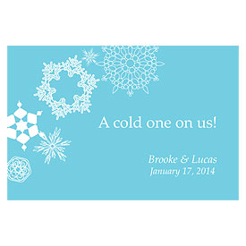 Winter Finery Large Wedding Drink Ticket