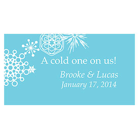 Winter Finery Small Wedding Drink Ticket