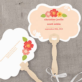 Tropical Bliss Hand Fan Wedding Favor