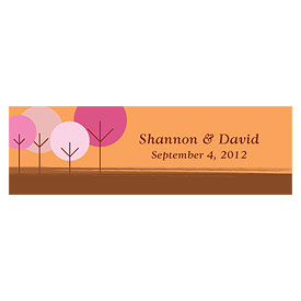 round tree small rectangular wedding tag stationery