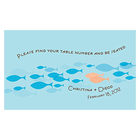Of All The Fish In The Sea Wedding Escort Table Sign Card