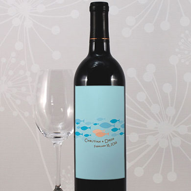 Of All The Fish In The Sea Wine Bottle Label