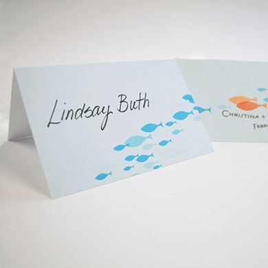 ?Of All The Fish In The Sea? Place Card With Fold