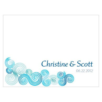 Sea Breeze Wedding Note Card