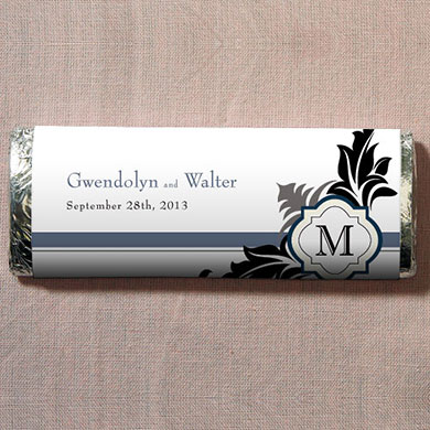 Lavish Monogram Chocolate Bar Wedding Favor