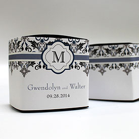 Lavish Monogram Wedding Favor Box Wrap