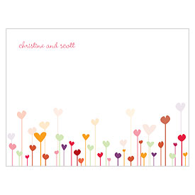 Hearts Wedding Note Card