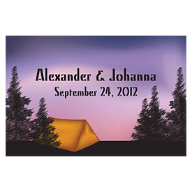 Camping Large Rectangular Wedding Favor Tag and Place Card