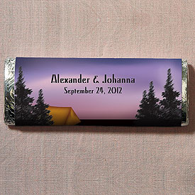 Camping Wedding Favor Chocolate Bar