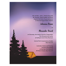 Camping Wedding Invitation Stationery