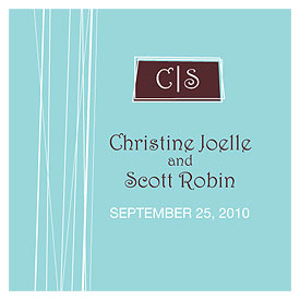 modern medley square wedding tag stationery