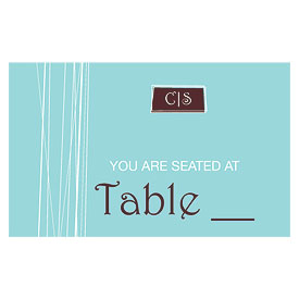 Modern Medley Wedding Reception Escort Table Sign Card