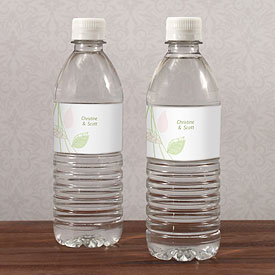Green Organic Water Bottle Labels