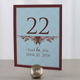 Victorian Wedding Reception Table Number Card