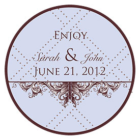 Victorian Small Wedding Favor Sticker