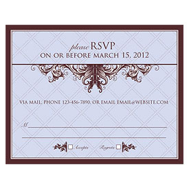 Victorian Wedding RSVP Card