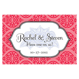 Moroccan Large Wedding Reception Drink Ticket