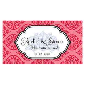 Moroccan Small Wedding Reception Drink Ticket