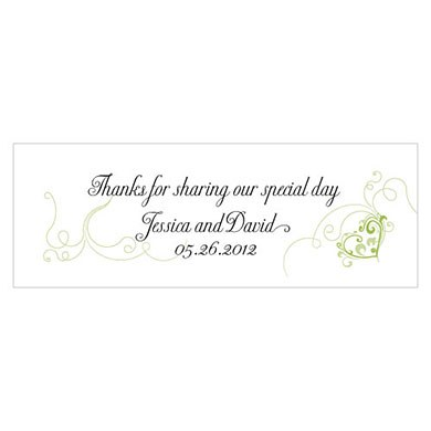 Heart Filigree Small Rectangular Favor Tags