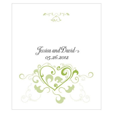 Heart Filigree Rectangular Wedding Labels
