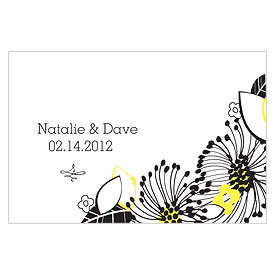 Floral Fusion Large Rectangular Wedding Favor Tag