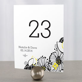 Floral Fusion Wedding Reception Table Number