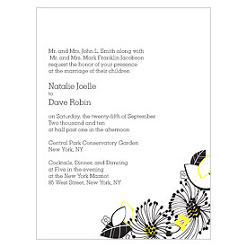 Floral Fusion Wedding Invitation Stationery