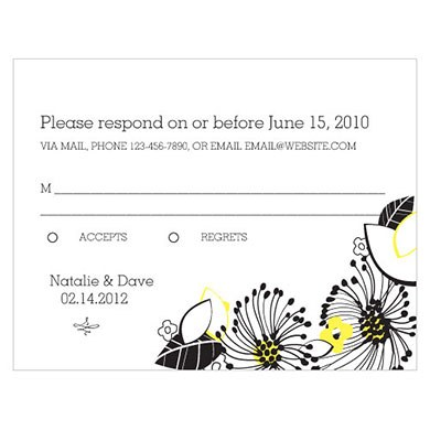 Floral Fusion Wedding RSVP Card