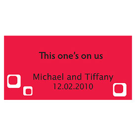square small Wedding Drink ticket stationery