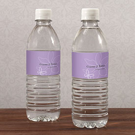 Butterfly Dreams Wedding Water Bottle Label
