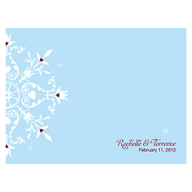 Winter Romance Wedding Note Card