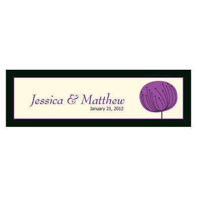 Romantic Elegance Small Rectangular Wedding Favor Tag