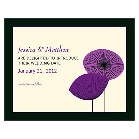 Romantic Elegance Wedding Save The Date Card