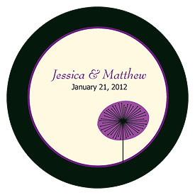 Romantic Elegance Large Wedding Favor Sticker
