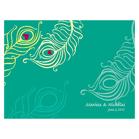 Perfect Peacock Wedding Note Card