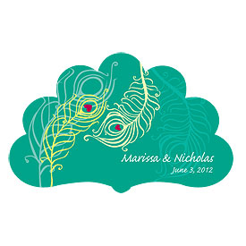 Perfect Peacock Small Wedding Window Cling