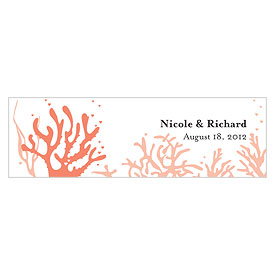 Coral Reef Small Rectangular favor and gift Tag
