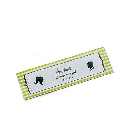 Sweet Silhouettes Small Rectangular Wedding Favor Tag