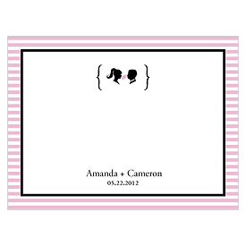 Sweet Silhouettes Wedding Stationery Note Card